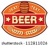 beer label design - stock vector