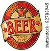 beer label design - stock vector