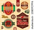 Beer labels, badges and icons set. - stock