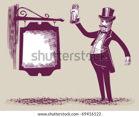Beer man. - stock vector