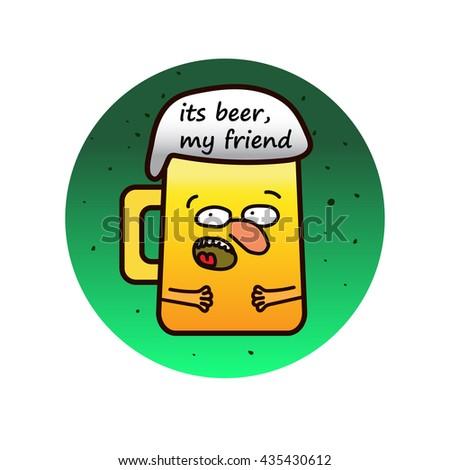 Beer mug character - stock vector