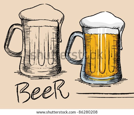 Beer Mug - old drawing style