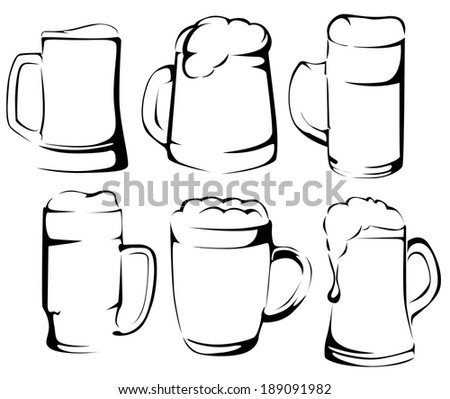Beer set - stock vector