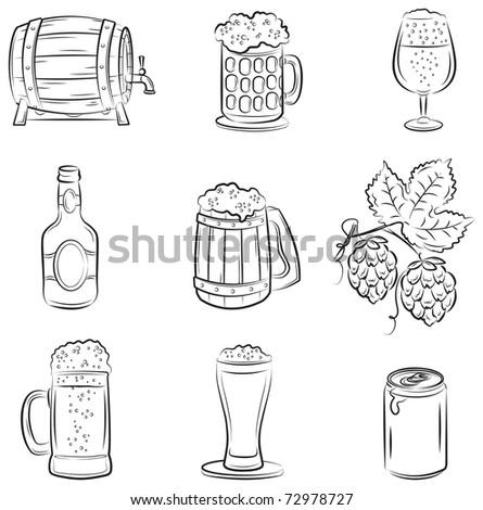 Beer Set - stock vector