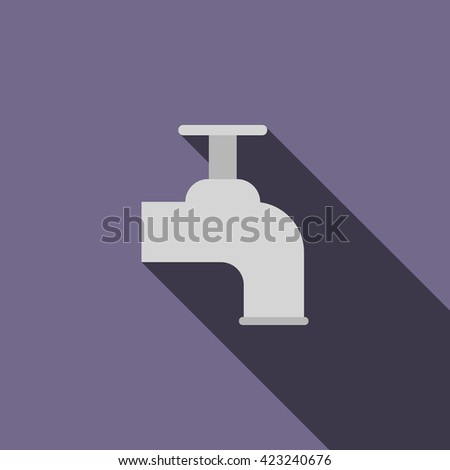 Beer tap icon, flat style - stock vector