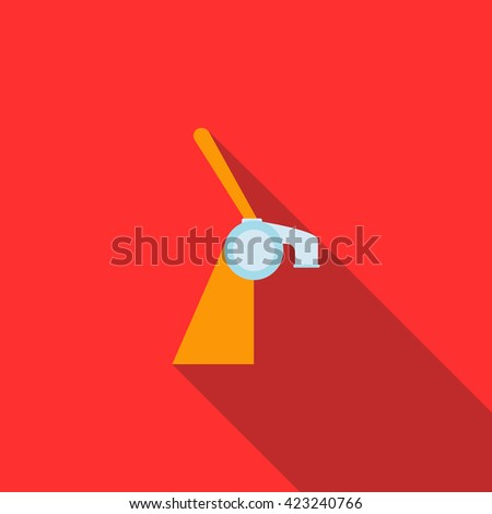 Beer tap used in bar icon, flat style - stock vector