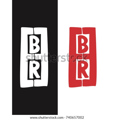 Beer Text Logotype Mirrored Character E Stock Vector 740657002