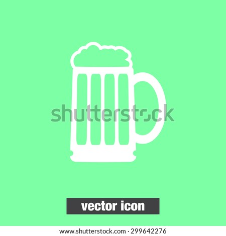 beer vector icon - stock vector