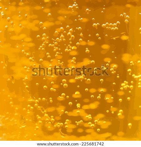 Beer with bubbles background. Vector - stock vector