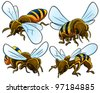 Bees Collection - stock photo