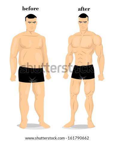 Before and after - stock vector