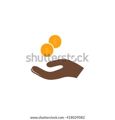 beggar Simple flat vector icon - stock vector