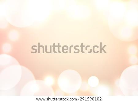 beige background with bokeh lights - stock vector