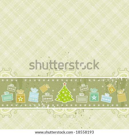 beige christmas background, vector illustration - stock vector