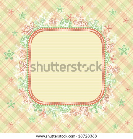 beige christmas background, vector illustration