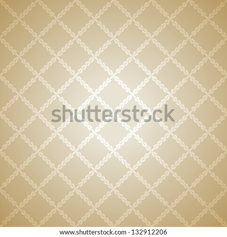 Beige cloth texture background. Vector illustration for your warm confident design. Book and wall cover. Fabric bright romantic canvas wallpaper with delicate striped pattern. - stock vector