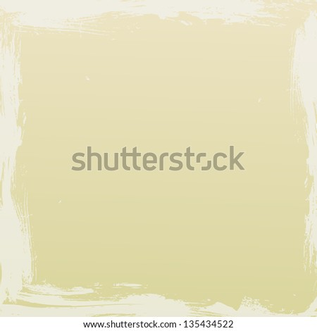 Beige coloured background with off-white grungy edges. - stock vector