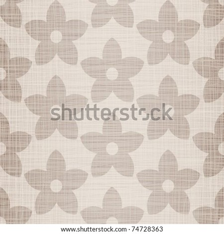 Beige fabric with florets a seamless background - stock vector