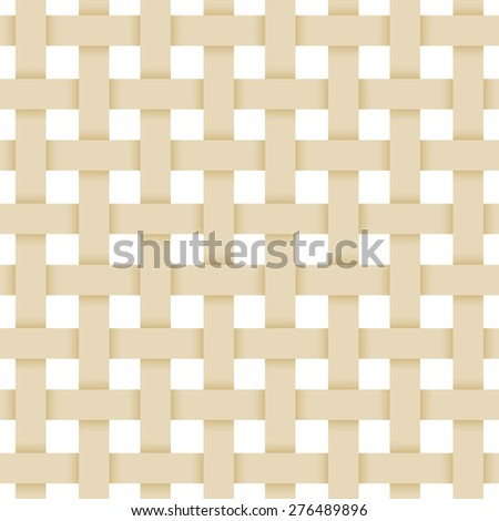 beige paper lattice. abstract seamless Monochrome pattern. geometric background with shadow. Repeating structure. Vector  - stock vector