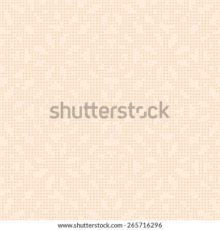 Beige seamless texture halftone lace floral pattern on the light cream background - stock vector