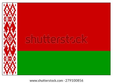 Belarus flag - stock vector