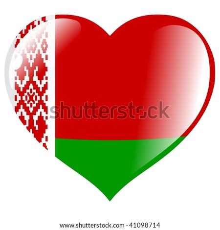 Belarus in heart - stock vector