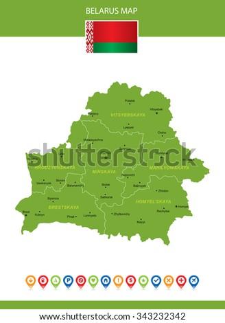 Belarus Map - stock vector