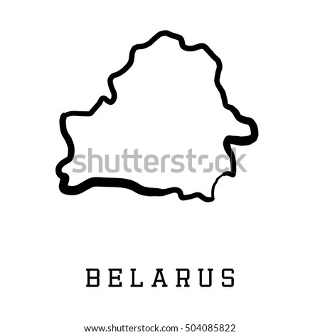 Belarus Map Outline Smooth Country Shape Map Vector