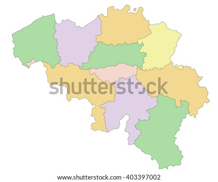Belgium - Highly detailed editable political map. - stock vector