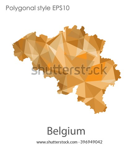 Belgium map in geometric polygonal style.Abstract gems triangle,modern design background.