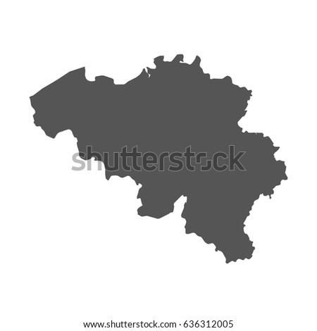 Belgium vector map black icon on stock vector 636312005 shutterstock gumiabroncs Images