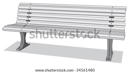 Bench 1 - stock vector