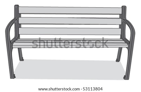 bench 3 - stock vector