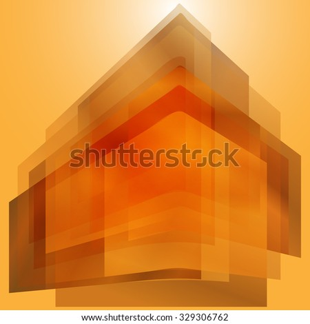 Bent rectangles abstract background - stock vector