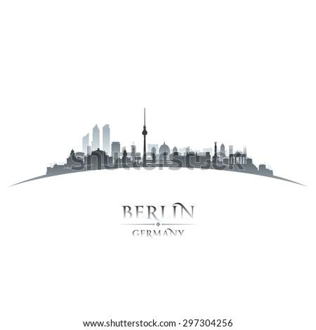 Berlin Germany city skyline silhouette. Vector illustration - stock vector