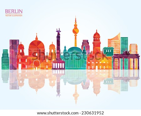 Berlin skyline. Vector illustration - stock vector