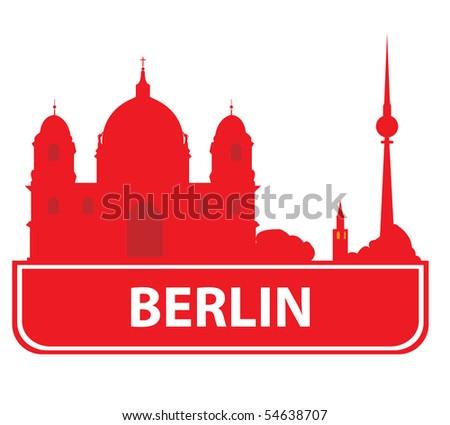 Berlin skyline. Vector illustration - stock vector