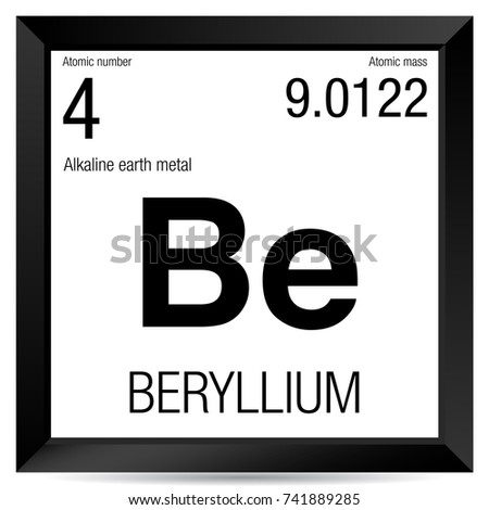 Beryllium symbol element number 4 periodic stock vector 741889285 beryllium symbol element number 4 of the periodic table of the elements chemistry urtaz Image collections