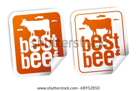 Best beef for steak stickers set