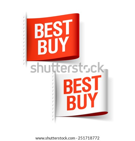 Best buy labels. Vector. - stock vector