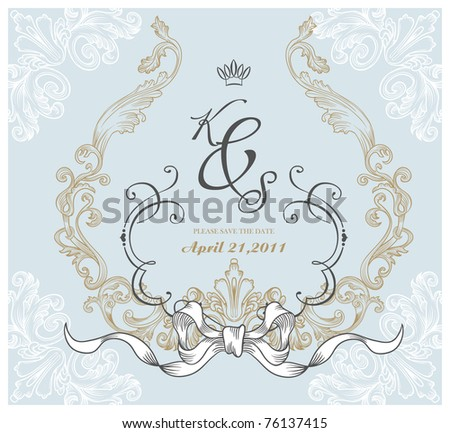 best card design - vintage cover - hand-drawn and very high quality - stock vector