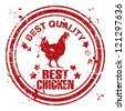 Best chicken vector stamps./ Grunge chicken meat stamp - stock vector