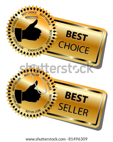 BEST CHOICE and BEST SELLER stickers-vector - stock vector