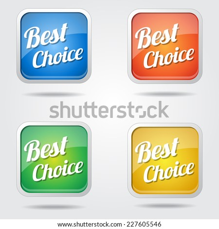 Best Choice Colorful Vector Icon Design