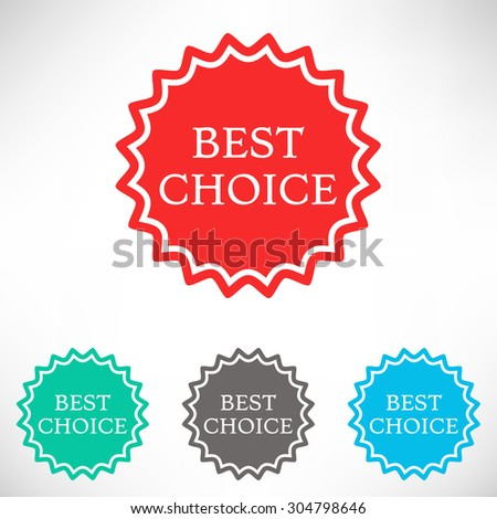Best choice icon. Set of varicolored icons. - stock vector
