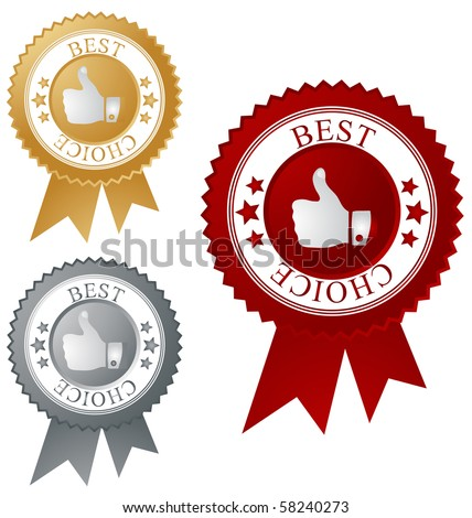 Best choice label, vector. - stock vector