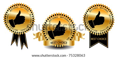 Best choice labels-vector - stock vector
