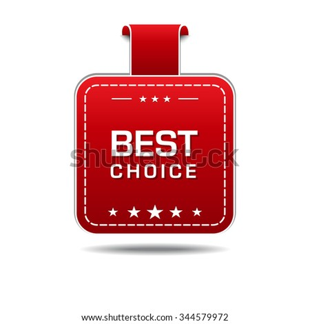 Best Choice Red Vector Icon Design
