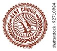 Best Choice Stamp - stock vector
