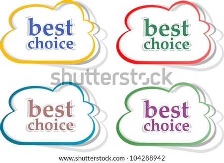 Best choice stickers label set. Vector illustration